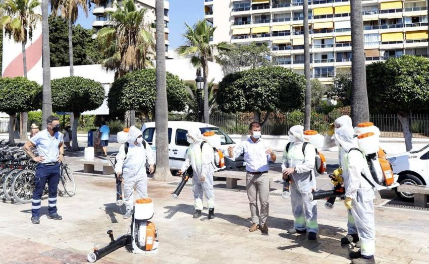 The Marbella Cleaning delegation reinforces disinfection with six new atomizers