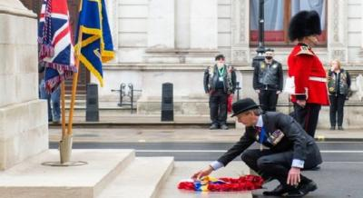 Royal British Legion Centenary Commemorated At The Cenotaph